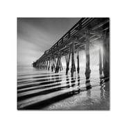 "Trademark Fine Art ''Pier and Shadows'' by Moises Levy 24"" x 24"" Canvas Art (ALI1119-C2424GG)"