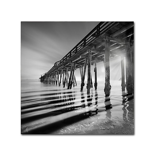 "Trademark Fine Art ''Pier and Shadows'' by Moises Levy 14"" x 14"" Canvas Art (ALI1119-C1414GG)"