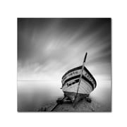 "Trademark Fine Art ''Boat I'' by Moises Levy 24"" x 24"" Canvas Art (ALI1120-C2424GG)"