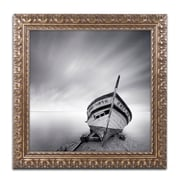 "Trademark Fine Art ''Boat I'' by Moises Levy 11"" x 11"" Ornate Frame (ALI1120-G1111F)"