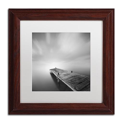 "Trademark Fine Art ''Destiny IVb'' by Moises Levy 11"" x 11"" White Matted Wood Frame (ALI1121-W1111MF)"