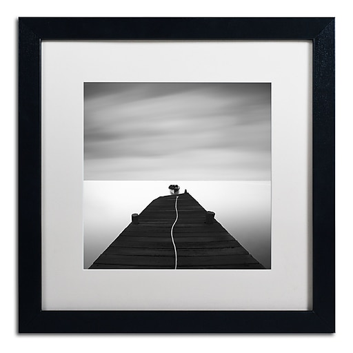 "Trademark Fine Art ''Free'' by Moises Levy 16"" x 16"" White Matted Black Frame (ALI1122-B1616MF)"