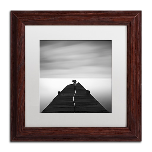"""Trademark Fine Art ''Free'' by Moises Levy 11"""" x 11"""" White Matted Wood Frame (ALI1122-W1111MF)"""