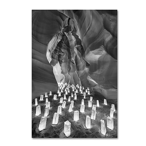 """Trademark Fine Art ''Candle Canyon II'' by Moises Levy 30"""" x 47"""" Canvas Art (ALI1128-C3047GG)"""