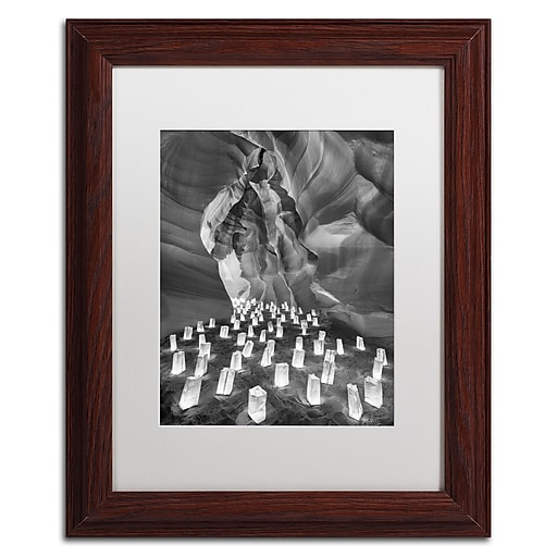 """Trademark Fine Art ''Candle Canyon II'' by Moises Levy 11"""" x 14"""" White Matted Wood Frame (ALI1128-W1114MF)"""