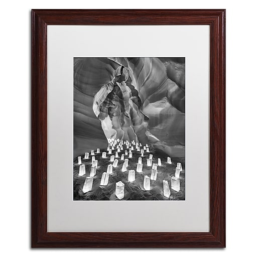 "Trademark Fine Art ''Candle Canyon II'' by Moises Levy 16"" x 20"" White Matted Wood Frame (ALI1128-W1620MF)"
