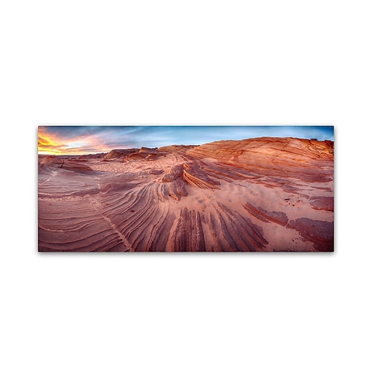 "Trademark Fine Art ''The Great Wall'' by Moises Levy 10"" x 24"" Canvas Art (ALI1140-C1024GG)"