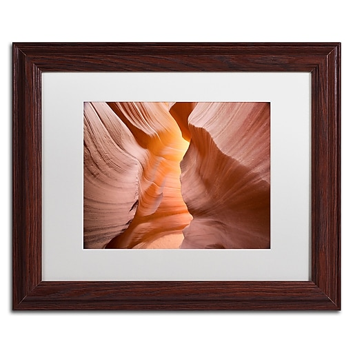 "Trademark Fine Art ''Welcome III'' by Moises Levy 11"" x 14"" White Matted Wood Frame (ALI1142-W1114MF)"