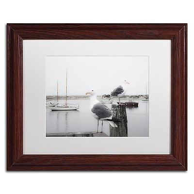 Trademark Fine Art ''Two Seagulls & Boats'' by Moises Levy 11