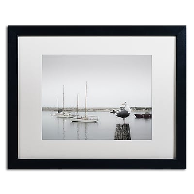 Trademark Fine Art ''Four Boats & Seagull'' by Moises Levy 16