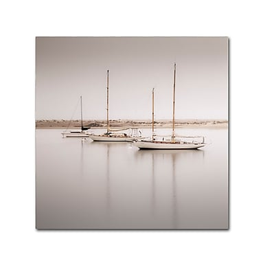 Trademark Fine Art ''Three Boats'' by Moises Levy 24