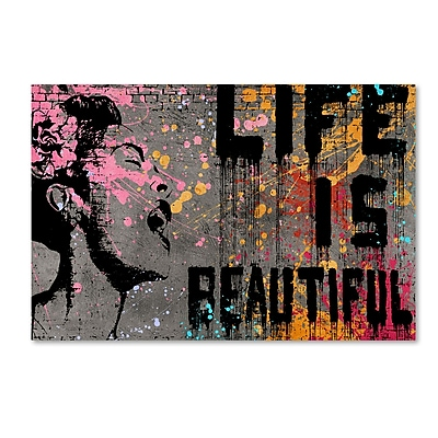 Trademark Fine Art ''Life is Beautiful'' by Banksy 30
