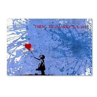 Trademark Fine Art ''There Is Always Hope'' by Banksy 30