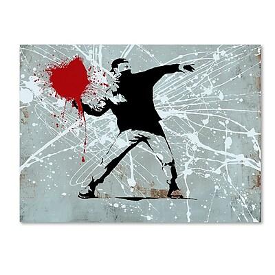 Trademark Fine Art ''Rage'' by Banksy 24