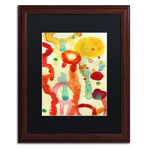 "Trademark Fine Art ''Circle Encounters 1'' by Amy Vangsgard  16"" x 20"" Black Matted Wood Frame (AV0093-W1620BMF)"