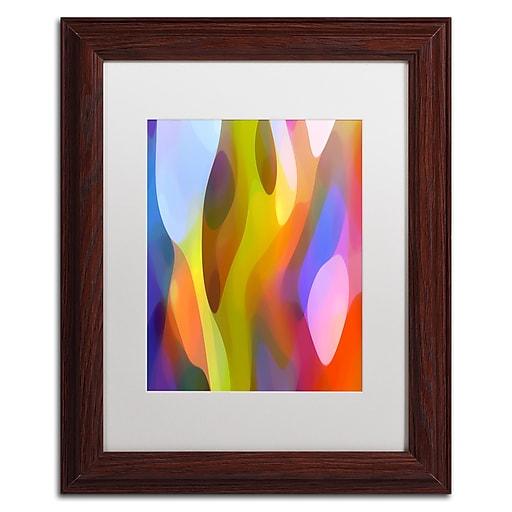 """Trademark Fine Art ''Dappled Light 3'' by Amy Vangsgard  11"""" x 14"""" White Matted Wood Frame (AV0101-W1114MF)"""