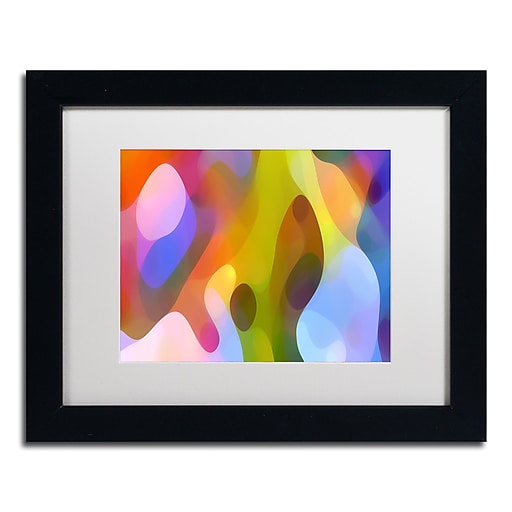 "Trademark Fine Art ''Dappled Light 6'' by Amy Vangsgard  11"" x 14"" White Matted Black Frame (AV0104-B1114MF)"
