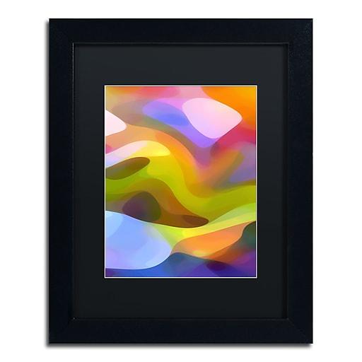 """Trademark Fine Art ''Dappled Light 8'' by Amy Vangsgard  11"""" x 14"""" Black Matted Black Frame (AV0107-B1114BMF)"""