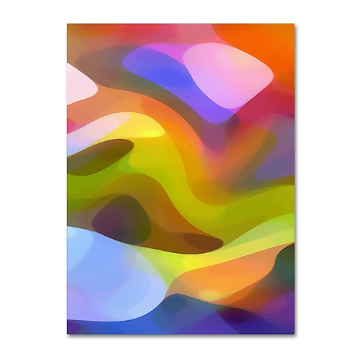"""Trademark Fine Art ''Dappled Light 8'' by Amy Vangsgard  14"""" x 19"""" Canvas Art (AV0107-C1419GG)"""