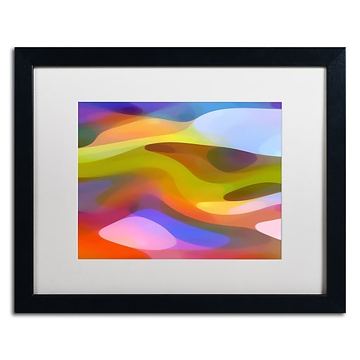 "Trademark Fine Art ''Dappled Light 9'' by Amy Vangsgard  16"" x 20"" White Matted Black Frame (AV0108-B1620MF)"
