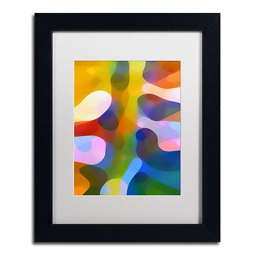 """Trademark Fine Art ''Dappled Light Palm 1'' by Amy Vangsgard  11"""" x 14"""" White Matted Black Frame (AV0110-B1114MF)"""