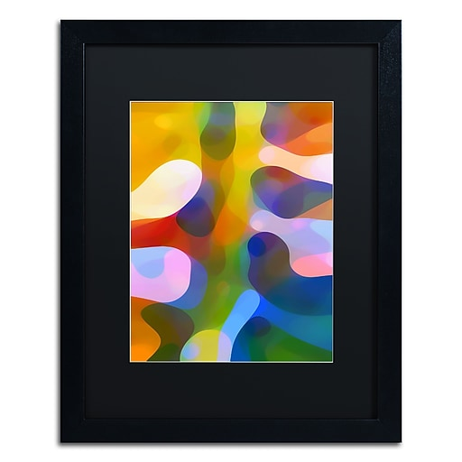 "Trademark Fine Art ''Dappled Light Palm 1'' by Amy Vangsgard  16"" x 20"" Black Matted Black Frame (AV0110-B1620BMF)"