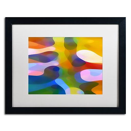 """Trademark Fine Art ''Dappled Light Palm 3'' by Amy Vangsgard  16"""" x 20"""" White Matted Black Frame (AV0112-B1620MF)"""