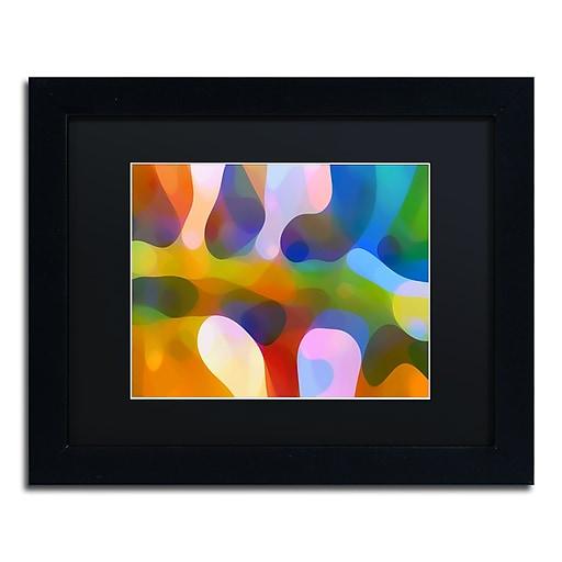 """Trademark Fine Art ''Dappled Light Palm 4'' by Amy Vangsgard  11"""" x 14"""" Black Matted Black Frame (AV0113-B1114BMF)"""
