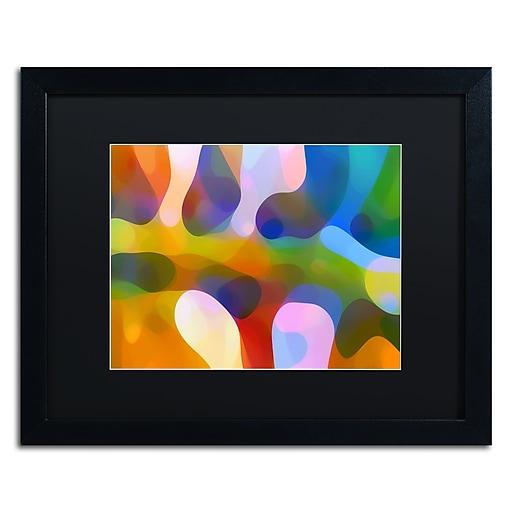 """Trademark Fine Art ''Dappled Light Palm 4'' by Amy Vangsgard  16"""" x 20"""" Black Matted Black Frame (AV0113-B1620BMF)"""