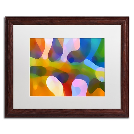 "Trademark Fine Art ''Dappled Light Palm 4'' by Amy Vangsgard  16"" x 20"" White Matted Wood Frame (AV0113-W1620MF)"