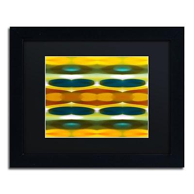 """Trademark Fine Art ''Fall Forest Wide 3'' by Amy Vangsgard  11"""" x 14"""" Black Matted Black Frame (AV0121-B1114BMF)"""