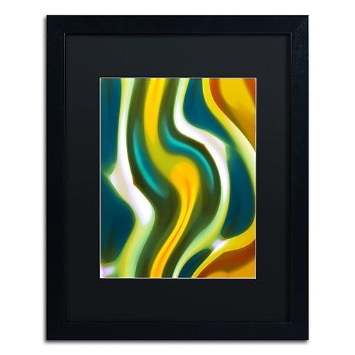 """Trademark Fine Art ''Forest Stream 1'' by Amy Vangsgard  16"""" x 20"""" Black Matted Black Frame (AV0123-B1620BMF)"""