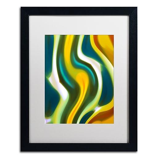"""Trademark Fine Art ''Forest Stream 1'' by Amy Vangsgard  16"""" x 20"""" White Matted Black Frame (AV0123-B1620MF)"""