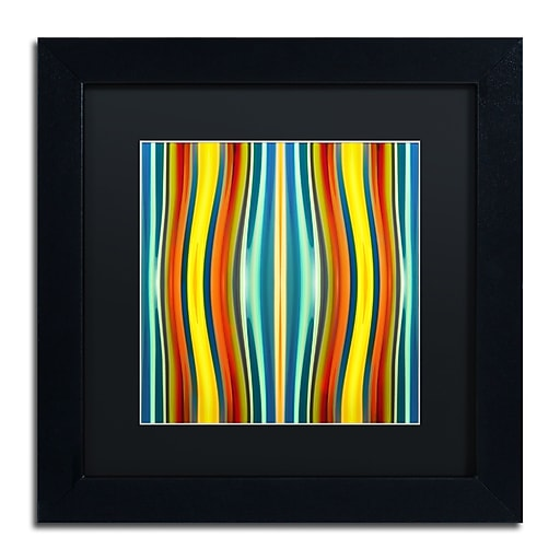 "Trademark Fine Art ''Fury Pattern 1'' by Amy Vangsgard  11"" x 11"" Black Matted Black Frame (AV0126-B1111BMF)"