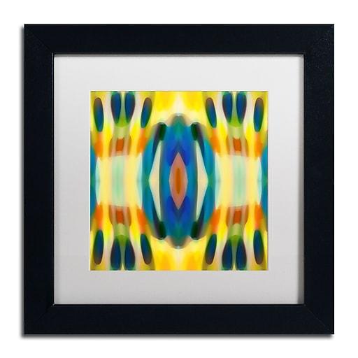 """Trademark Fine Art ''Fury Pattern 3'' by Amy Vangsgard  11"""" x 11"""" White Matted Black Frame (AV0127-B1111MF)"""