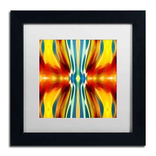 """Trademark Fine Art ''Fury Pattern 4'' by Amy Vangsgard  11"""" x 11"""" White Matted Black Frame (AV0128-B1111MF)"""