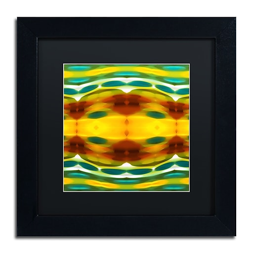 "Trademark Fine Art ''Fury Pattern 5'' by Amy Vangsgard  11"" x 11"" Black Matted Black Frame (AV0129-B1111BMF)"