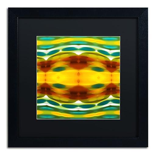 "Trademark Fine Art ''Fury Pattern 5'' by Amy Vangsgard  16"" x 16"" Black Matted Black Frame (AV0129-B1616BMF)"