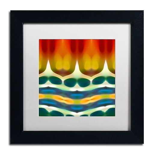 "Trademark Fine Art ''Fury Pattern 7'' by Amy Vangsgard  11"" x 11"" White Matted Black Frame (AV0131-B1111MF)"