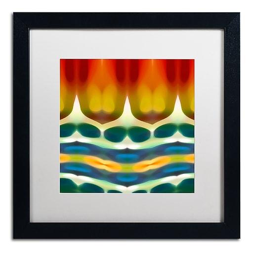 """Trademark Fine Art ''Fury Pattern 7'' by Amy Vangsgard  16"""" x 16"""" White Matted Black Frame (AV0131-B1616MF)"""