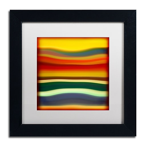 "Trademark Fine Art ''Fury Sea 2'' by Amy Vangsgard  11"" x 11"" White Matted Black Frame (AV0133-B1111MF)"