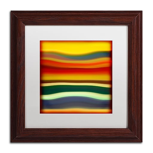 "Trademark Fine Art ''Fury Sea 2'' by Amy Vangsgard  11"" x 11"" White Matted Wood Frame (AV0133-W1111MF)"
