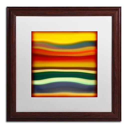 "Trademark Fine Art ''Fury Sea 2'' by Amy Vangsgard  16"" x 16"" White Matted Wood Frame (AV0133-W1616MF)"