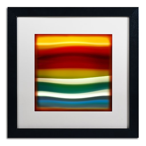 "Trademark Fine Art ''Fury Sea 3'' by Amy Vangsgard  16"" x 16"" White Matted Black Frame (AV0134-B1616MF)"