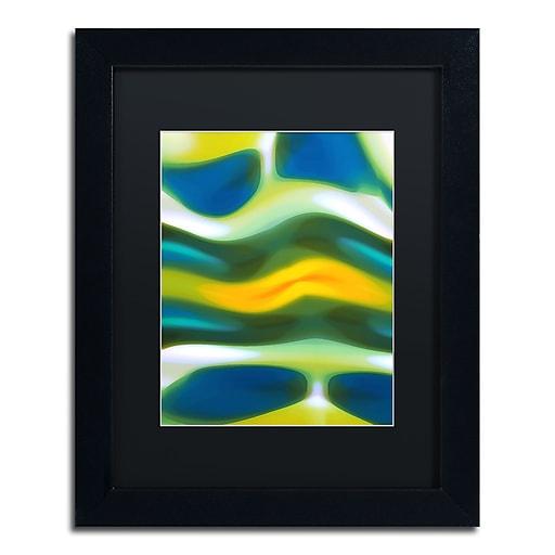 """Trademark Fine Art ''Fury Stream 3'' by Amy Vangsgard  11"""" x 14"""" Black Matted Black Frame (AV0138-B1114BMF)"""