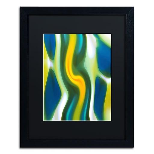 """Trademark Fine Art ''Fury Stream 4'' by Amy Vangsgard  16"""" x 20"""" Black Matted Black Frame (AV0139-B1620BMF)"""
