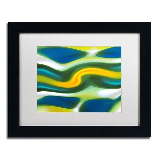 """Trademark Fine Art ''Fury Stream 6'' by Amy Vangsgard  11"""" x 14"""" White Matted Black Frame (AV0141-B1114MF)"""