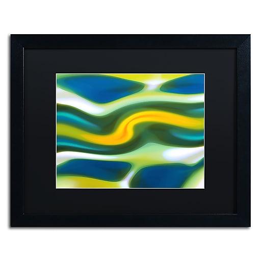 """Trademark Fine Art ''Fury Stream 6'' by Amy Vangsgard  16"""" x 20"""" Black Matted Black Frame (AV0141-B1620BMF)"""