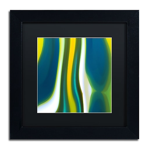 "Trademark Fine Art ''Fury Stream 7'' by Amy Vangsgard  11"" x 11"" Black Matted Black Frame (AV0142-B1111BMF)"