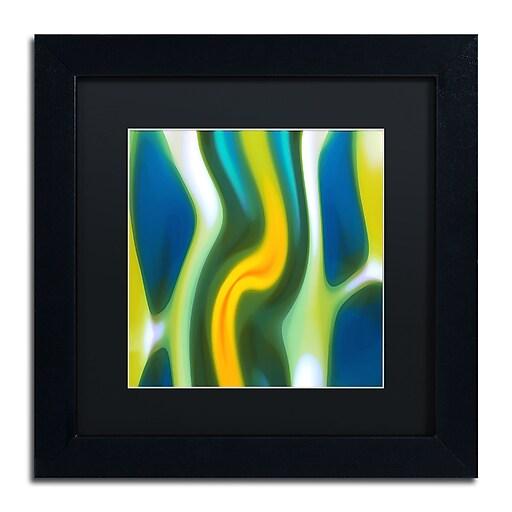 """Trademark Fine Art ''Fury Stream 8'' by Amy Vangsgard  11"""" x 11"""" Black Matted Black Frame (AV0143-B1111BMF)"""